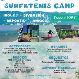 Tennis & Surf Camp Verano 2018