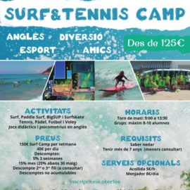 Tennis & Surf Camp Estiu 2018