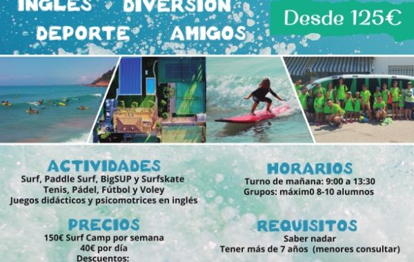 Tennis & Surf Camp Verano 2019